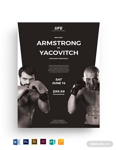 Fight Night Flyer Template