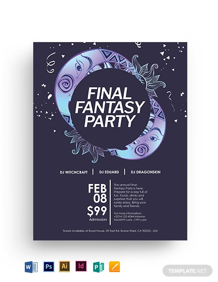 Final Fantasy Flyer Template