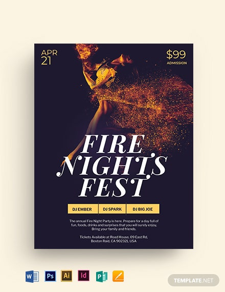 Fire Nights Flyer Template