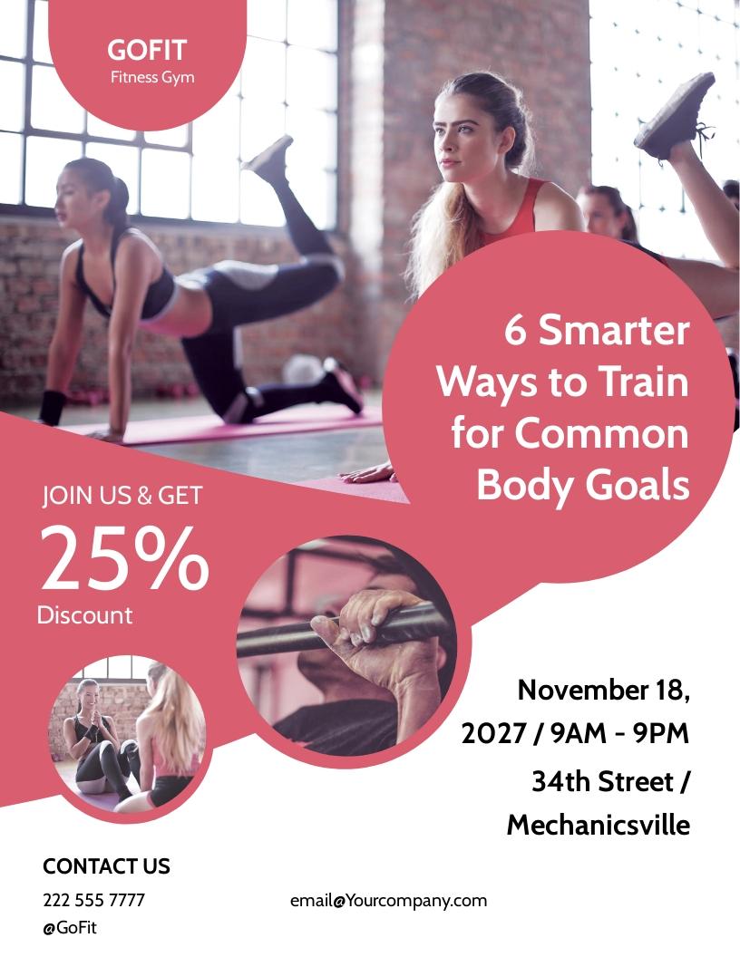 Fitness Body Shape Program Flyer Template