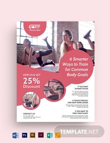 Fitness Body Shape Program Flyer Template
