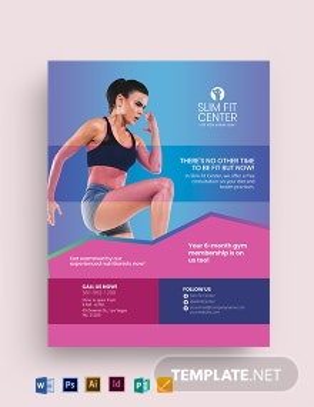 Fitness Health Center Flyer Template