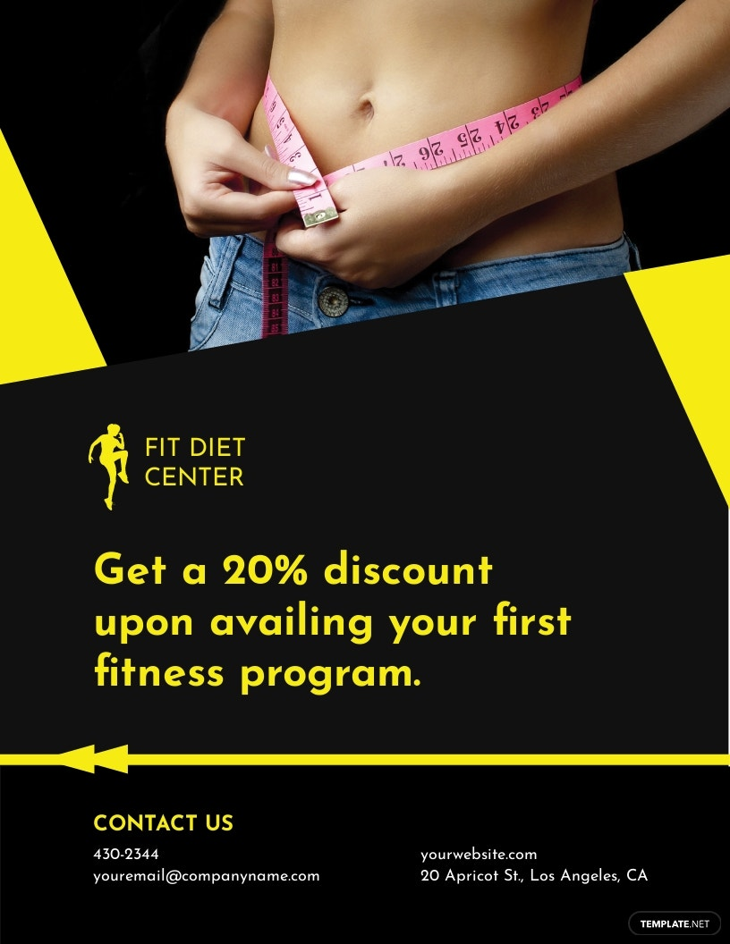 Fitness Healthy Diet Program Flyer Template