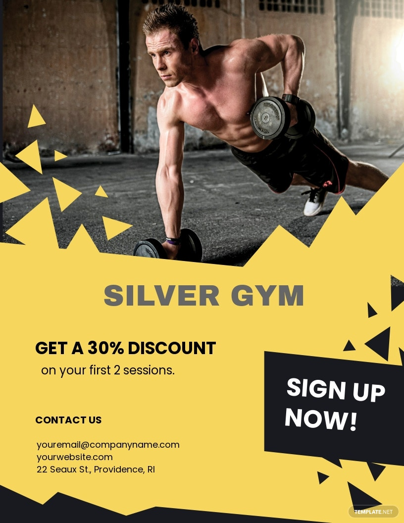 Fitness Training Flyer Template