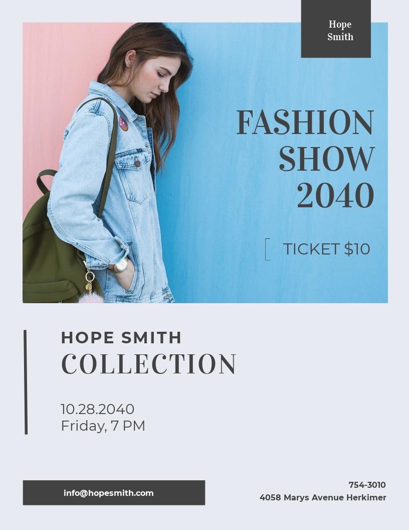 Minimal Fashion Flyer Template