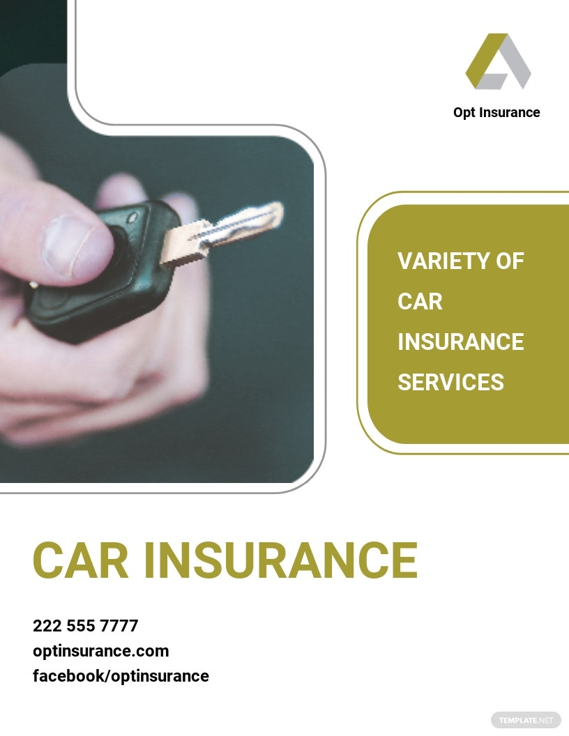Car Insurance Company Flyer Template