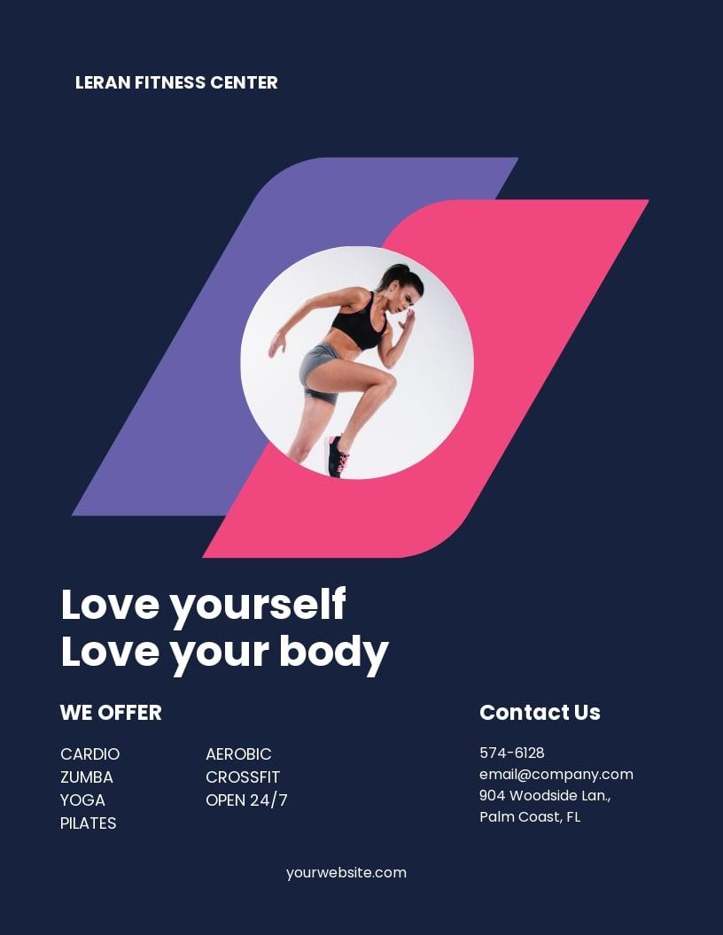 Fitness Center Flyer Template.jpe