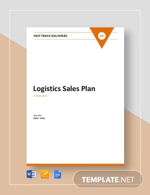 Logistics Sales Plan Template