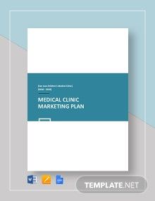Medical Clinic Marketing Plan Template