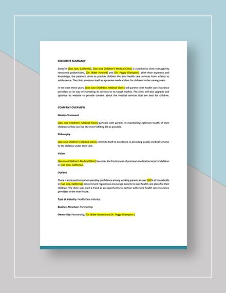 Medical Clinic Marketing Plan Download