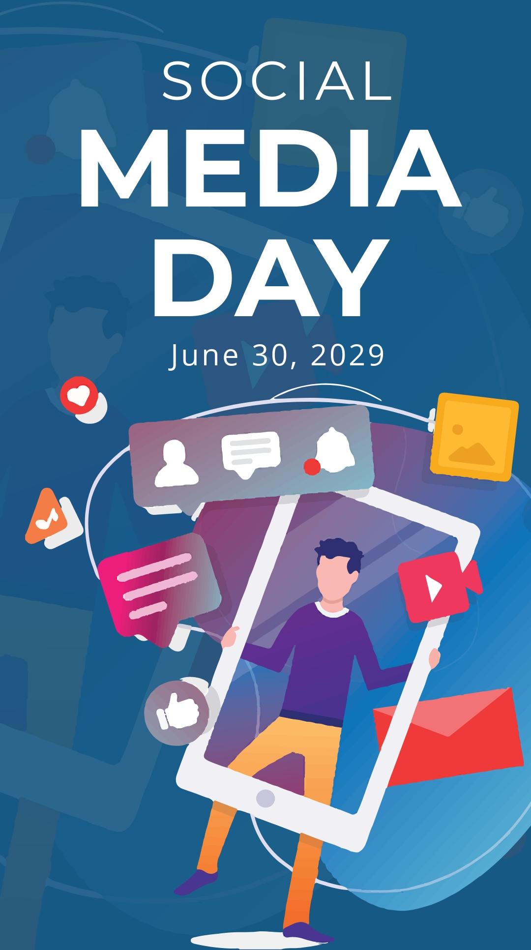 Free Social Media Day Whatsapp Image Template.jpe