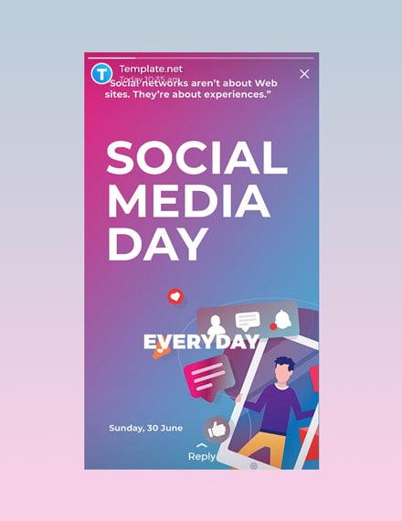 Free Social Media Day Whatsapp Image Template