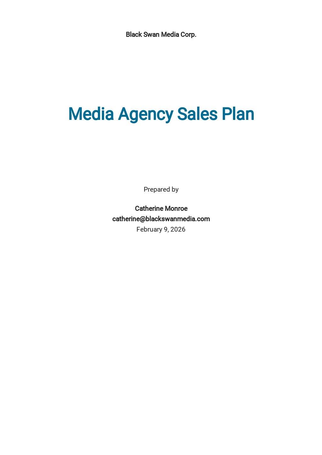 Media Agency Sales Plan Template.jpe
