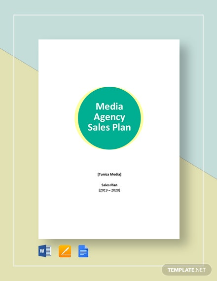 Media Agency Sales Plan Template