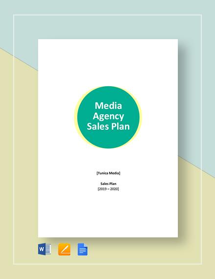 Media Agency Sales Plan Template
