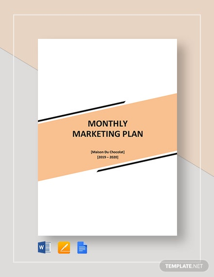 monthly marketing plan