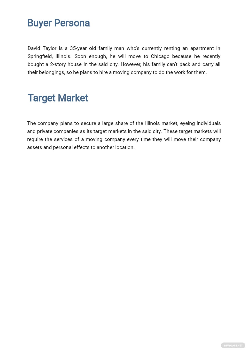 Moving Company Marketing Plan Template 2.jpe