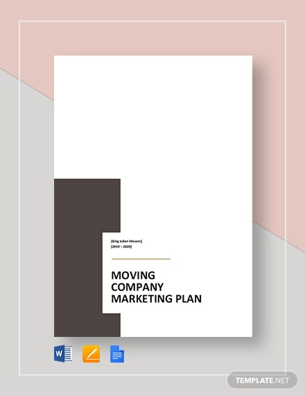 Moving Company Marketing Plan Template