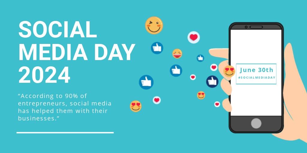 Free Social Media Day Twitter Post Template.jpe