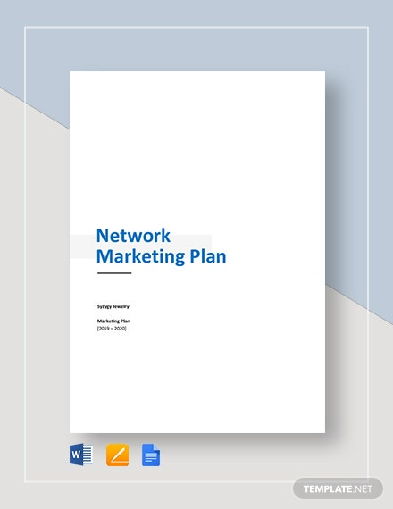 Network Marketing Plan Template