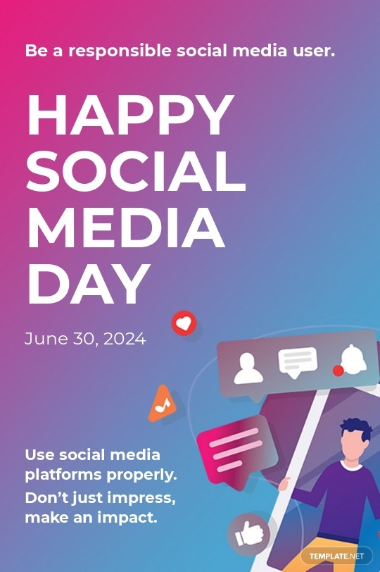 Free Social Media Day Tumblr Post Template.jpe