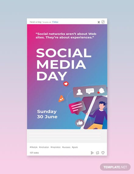 Free Social Media Day Tumblr Post Template