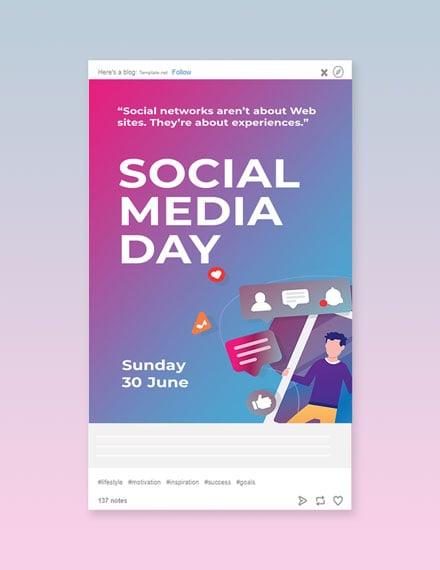 Free Social Media Day Tumblr Post Template