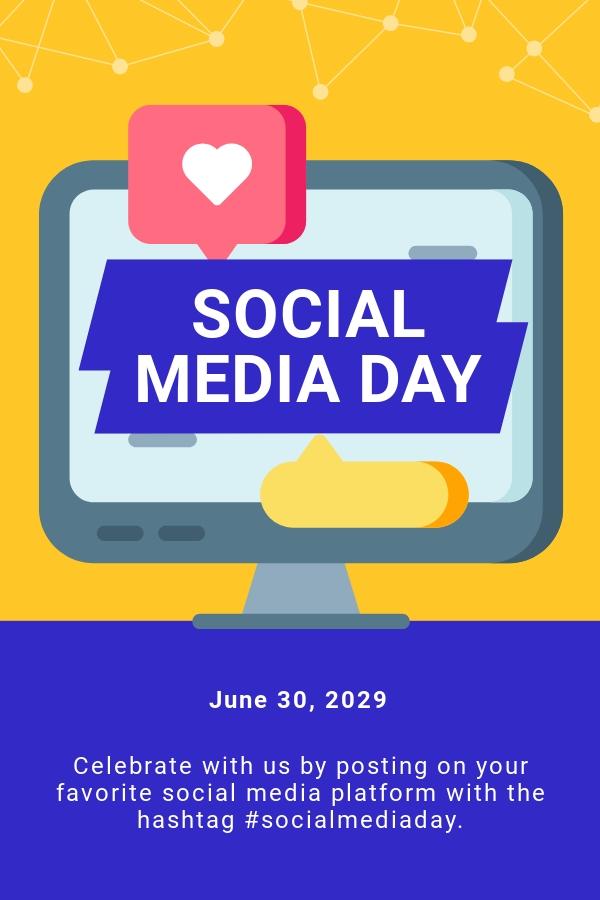 Free Social Media Day Pinterest Pin Template.jpe