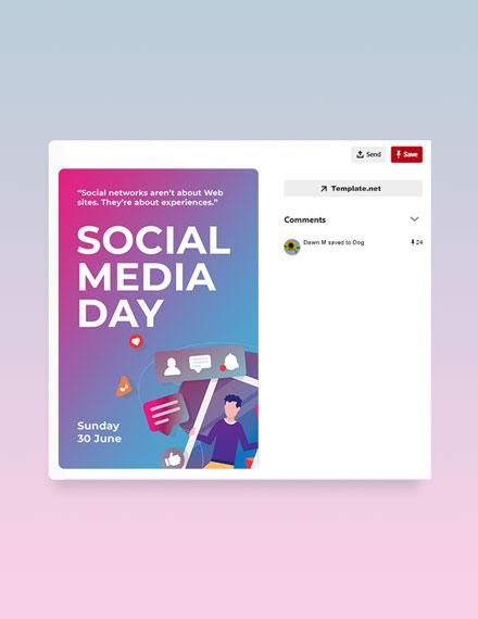 Free Social Media Day Pinterest Pin Template