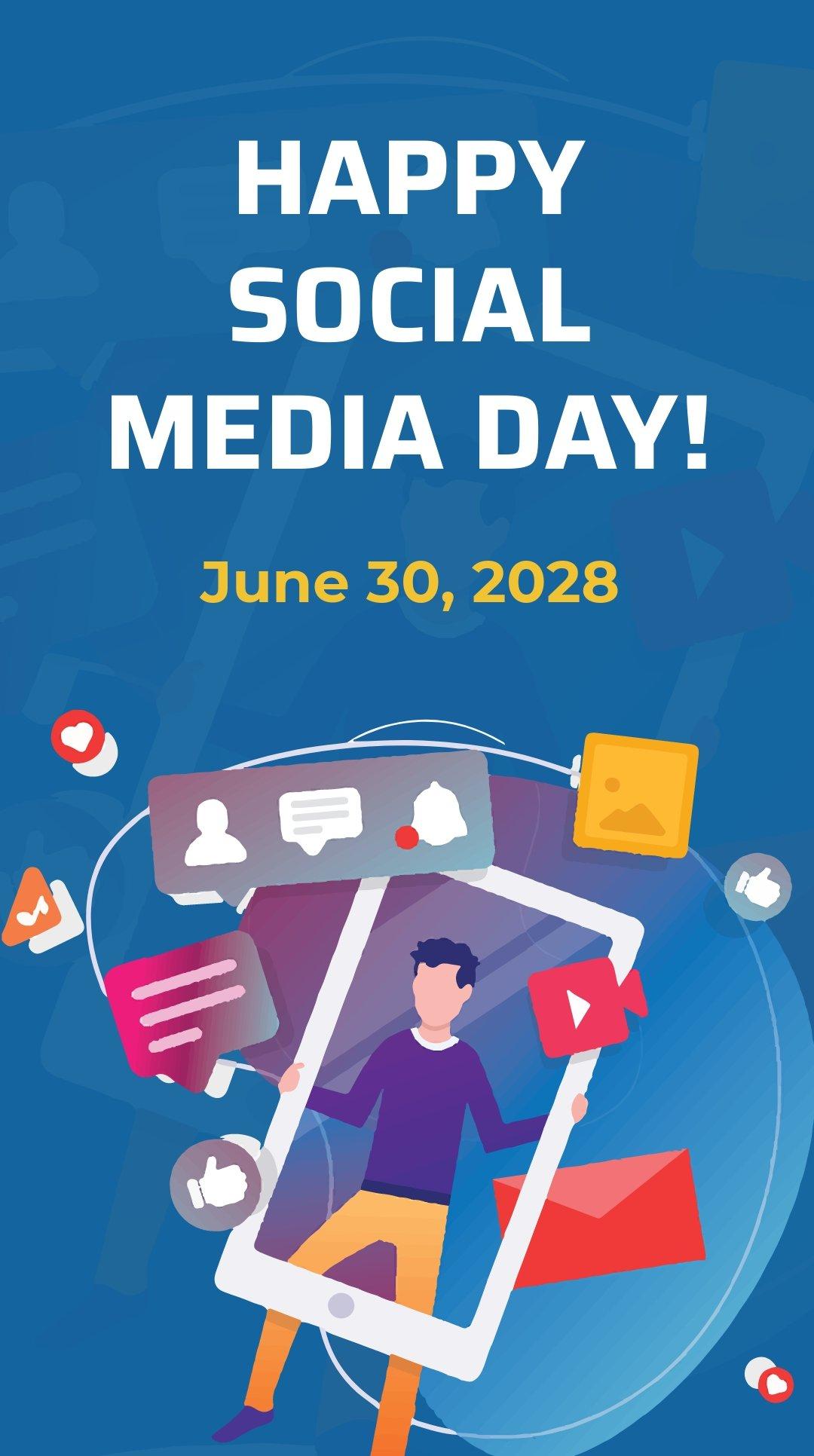 Free Social Media Day Instagram Story Template.jpe