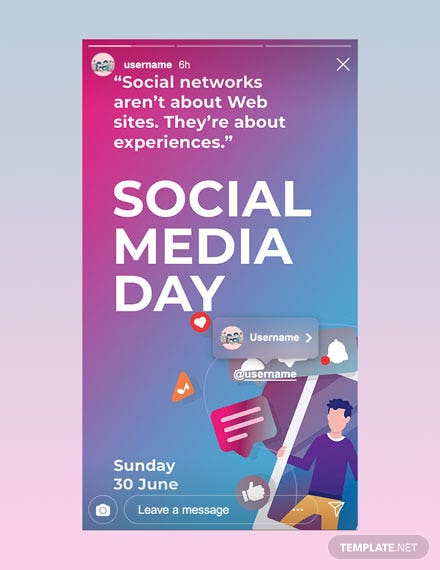 Free Social Media Day Instagram Story Template