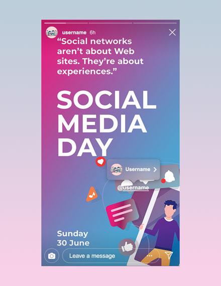 Free Social Media Day Instagram Story Template