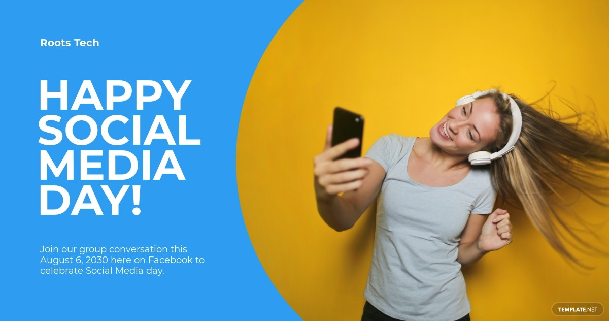 Social Media Day Facebook Post Template
