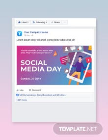 Free Social Media Day Facebook Post Template