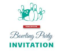 Free Corporate Bowling Invitation Template