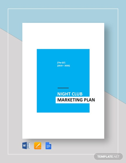 Nightclub Marketing Plan Template