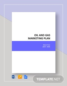 Oil And Gas Marketing Plan Template