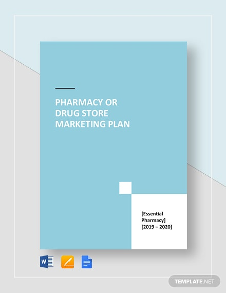 Pharmacy or Drug Store Marketing Plan Template