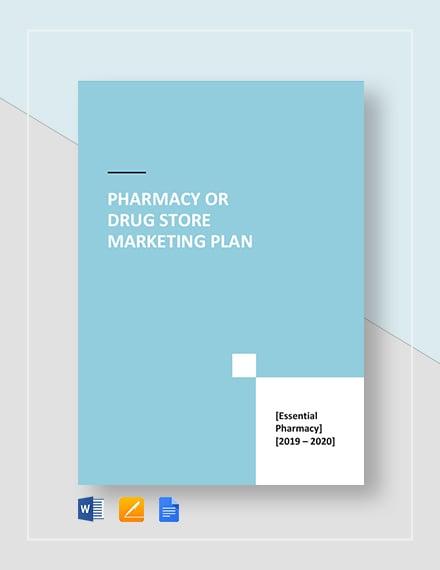 pharmacy or drug store marketing plan