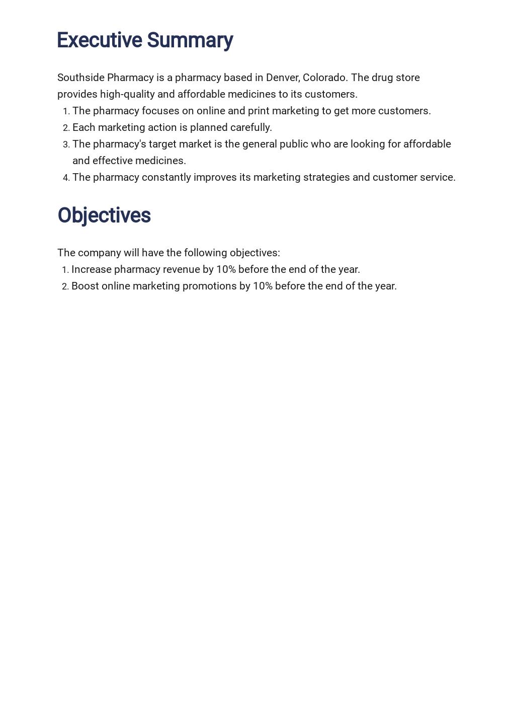 Pharmacy or Drug Store Marketing Plan Template 1.jpe