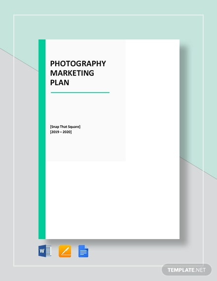 Photography Marketing Plan Template