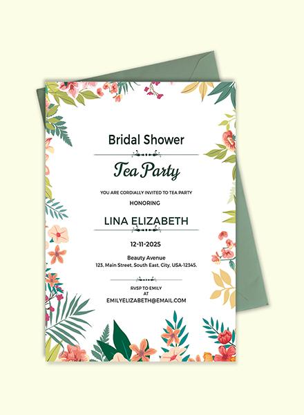 Free bridal shower tea party invitation template download 344 free bridal shower tea party invitation template download 344 invitations in psd illustrator template filmwisefo