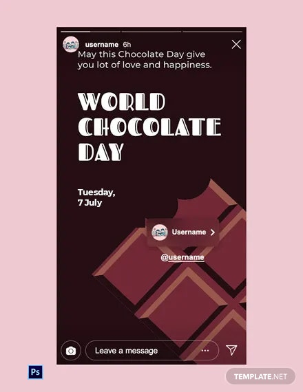 Free World Chocolate Day Instagram Story Template