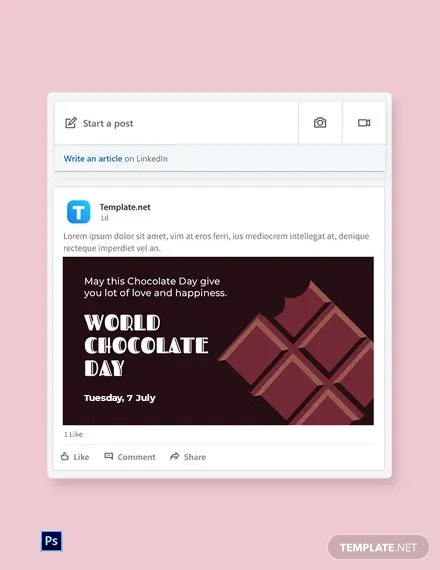 Free World Chocolate Day Linkedin Post Template