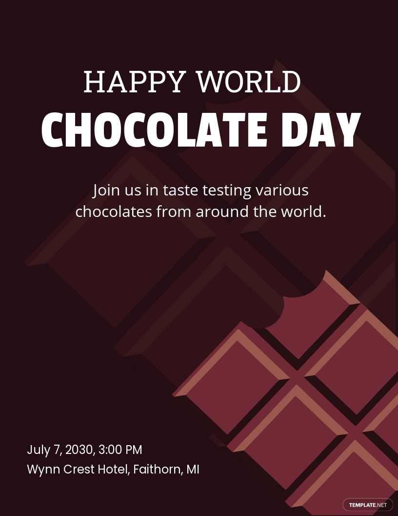 Free World Chocolate Day Pinterest Pin Template