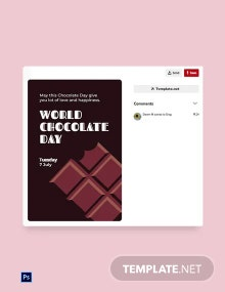 Free World Chocolate Day Pinterest Pin Template
