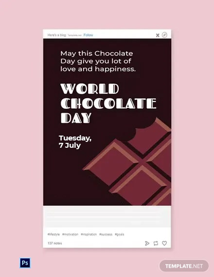 Free World Chocolate Day Tumblr Post Template