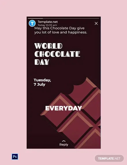 Free World Chocolate Day WhatsApp Image Template