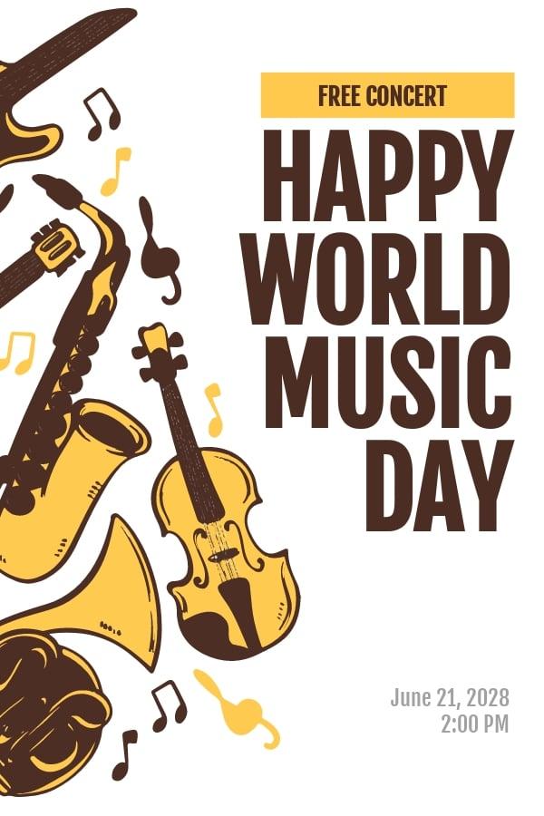 World Music Day Pinterest Pin Template