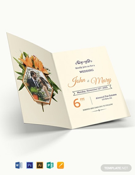 free elegant overlay wedding invitation template 440x570 1